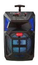 Caixa De Som Amplificadora Buetooth Microfone Com Fio - Livstar
