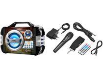 Caixa de Som Amplificadora Lenoxx CA 325 100W - Bluetooth USB com Microfone MP3 karaokê