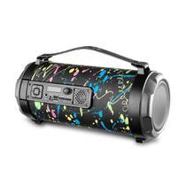 Caixa de Som Bazooka Pulse SP362 Bluetooth 120W Entrada para Microfone USB Micro SD Rádio FM Luzes -