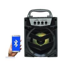 Caixa de som bluetooth 10w usb, micro sd fm preto  d-bh1065 - Grasep