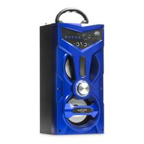 Caixa de Som Bluetooth 12W FM MP3 USB P2 SD CS-M264BT AZUL - Exbom