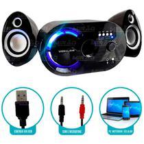 Caixa de Som Bluetooth 18w com Subwoofer Wireless 2.1 - VC-G320BT - Infokit
