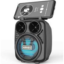 Caixa De Som Bluetooth 5.0 Bateria Longa Duração USB - Preto - Kimiso