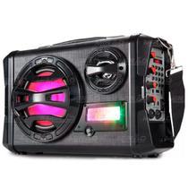 Caixa De Som Bluetooth Acústica Maleta Multimidia FM/USB/SD Até 30W Com Pisca LEDINFOKIT - VM-P3202 -