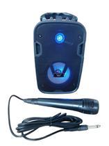 Caixa de som bluetooth Altomex Microfone Karaoke Radio Fm -