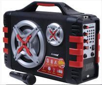 Caixa de Som Bluetooth Amplificada 100W RMS com Microfone Amvox Radio USB -  ACA150 -