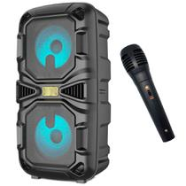 caixa de som bluetooth Amplificada Microfone Fm PenDrive Sd Card 5.0 Wlxy 668X -