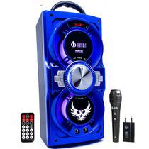 Caixa De Som Bluetooth Amplificada Portátil VC-M866BT Cor Azul - Infokit