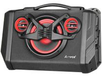 Caixa de Som Bluetooth Amvox ACA 110 Black - Portátil Ativa Amplificada 80W USB Preta -