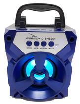 Caixa de som bluetooth azul portatil blutufe sd radio fm usb - Grasep
