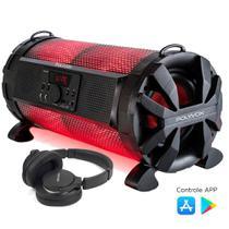 Caixa de som Bluetooth Bazuka XB650 Polyvox 200w+Fone de Ouvido Bluetooth -