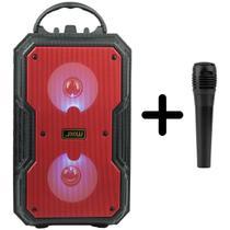 Caixa de som bluetooth  com microfone P10 para karaoke - YBF