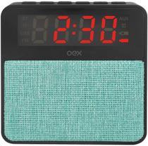 Caixa de Som Bluetooth com Rádio Relógio Digital e Despertador 10w Wake CS100 - Verde - Oex