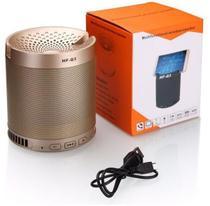 Caixa de som bluetooth com suporte para celular 5w - HF-Q3 Dourado - Inova