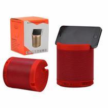 Caixa de som bluetooth com suporte para celular 5w - HF-Q3 Vermelha - Inova
