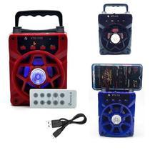 Caixa de som bluetooth controle remoto usb sd fm amplificador radio portatil bivolt - GIMP