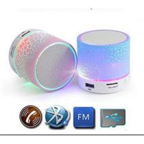 Caixa de som bluetooth led mini caixinha mp3 speaker luminaria usb sd - Gimp