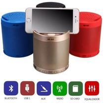 Caixa de Som Bluetooth Mini Portátil USB MP3 SD Rádio FM Q3 Cores Sortidas - Lx