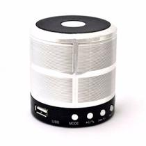 Caixa de Som Bluetooth Mini Speaker Space Line WS-887 Prata - Ukimix