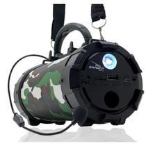 Caixa de Som Bluetooth Portátil Amplificada Canhão Mp3 Usb P2 Pendrive Grasep D-p13 EXERCITO -
