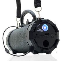 Caixa de Som Bluetooth Portátil Amplificada Canhão Mp3 Usb P2 Pendrive Grasep D-p13 - Preta -