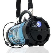 Caixa de Som Bluetooth Portátil Amplificada Canhão Mp3 Usb P2 Pendrive Grasep D-p13 Torre Pisa -