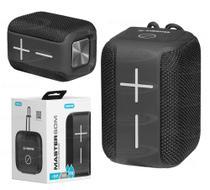 Caixa de som Bluetooth Portátil IPX6 5W RMS KIMASTER - K400 Preto -