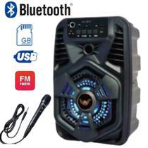 Caixa De Som Bluetooth Portátil Super Potente Com Entrada Microfone - Altomex - 3811