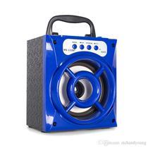 Caixa De Som Bluetooth Portátil Usb AUX SD 8w Mp3 Rádio Fm Azul - Morgadosp