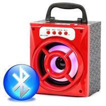 Caixa De Som Bluetooth Portátil Usb AUX SD 8w Mp3 Rádio Fm Vermelho - Morgadosp