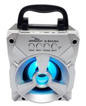 Caixa de som bluetooth prata portatil radio fm sd usb - Grasep
