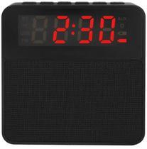 Caixa De Som Bluetooth Rádio Relógio Despertador 10W - preto - Next Trading