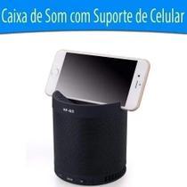Caixa De Som Bluetooth Sem Fio Com Suporte Para Celular Flex - Multifunctonal