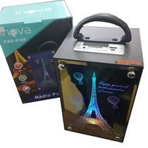 Caixa de Som Bluetooth Torre Eifel FM SD USB 2x10W RAD-8100 - Inova