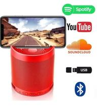 Caixa De Som Bluetooth USB Q3 Com Suporte Celular Android Ios Smartphone Vermelho - Lx