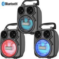 Caixa De Som Bluetooth Wireless Speaker Caixinha Portátil Amplificada Usb Rádio KMS - Lx