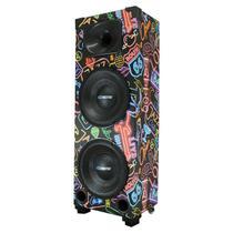 Caixa de Som bob Neon 2 Woofer de 10 amp bomber bluetooth - Extreme Box