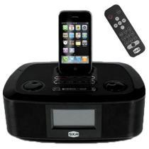 Caixa De Som Dock Station Para Iphone E Ipod Com Alarme Spi300 Sxa -