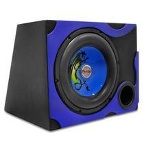 """Caixa de Som Dutada Grafitada Musicall 50 Litros 300W RMS 1 Subwoofer 12"""" Preta e Azul -"""