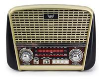 Caixa De Som E Radio Retro Antigo Vintage Am Fm Pen Drive USB E Lanterna - Altomex