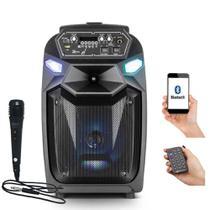 Caixa de Som Frahm Amplificada Portátil Bluetooth Usb Cm 350 Bt Usb Fm 350w e Microfone -