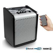 Caixa De Som Frahm Chroma Cr400 Silver App  Bt Usb Fm 100w rms Bivolt -