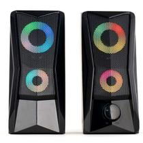 Caixa de Som Gamer Led RGB P2 USB Para PC LEHMOX - GT-S3 -