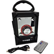 Caixa De Som Inova Portátil Com led Rádio Fm Usb Micro Sd 5w -