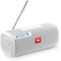 Caixa de Som JBL Tuner FM Branco Speaker Bluetooth Portátil Sintonizador de Rádio FM Digital com RDS -