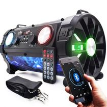 Caixa de Som Led Canhão Portátil  Bass Extreme Bluetooth Mp3 Usb Fm Dp2 - Grasep