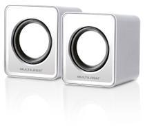 Caixa De Som Multilaser 2.0 Mini 3W Rms Usb Para Notebook Branco - SP199 -