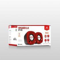 Caixa de som para computador speaker 2.0 sp-303rd c3tech -