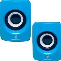 Caixa de Som para PC Computador Notebook 6W Potente P2 GT-PCN8U COR AZUL - lx