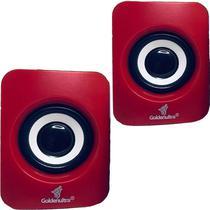 Caixa de Som para PC Computador Notebook 6W Potente P2 GT-PCN8U Cor Vermelha - Lx